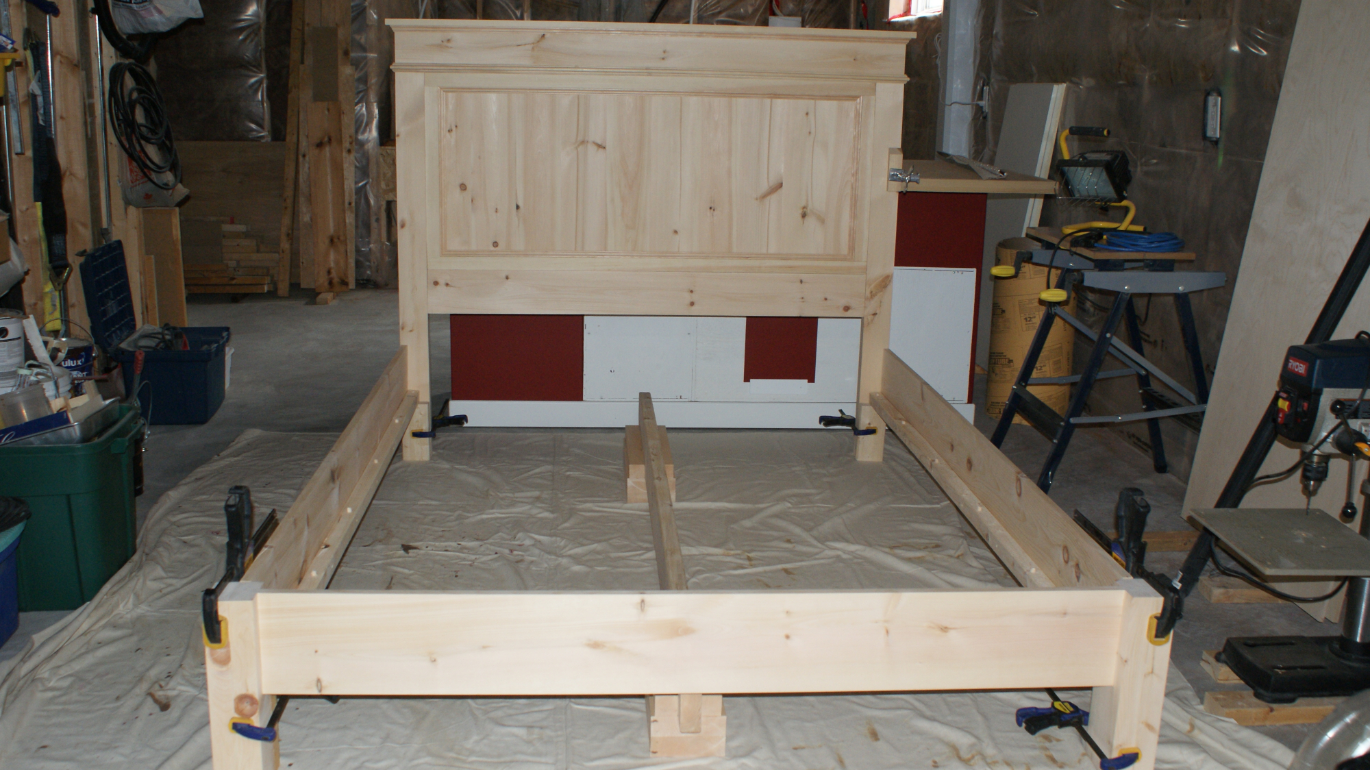 Bedframe before paint
