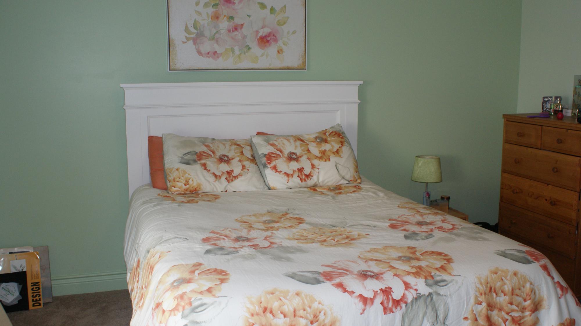 Bedframe in bedroom